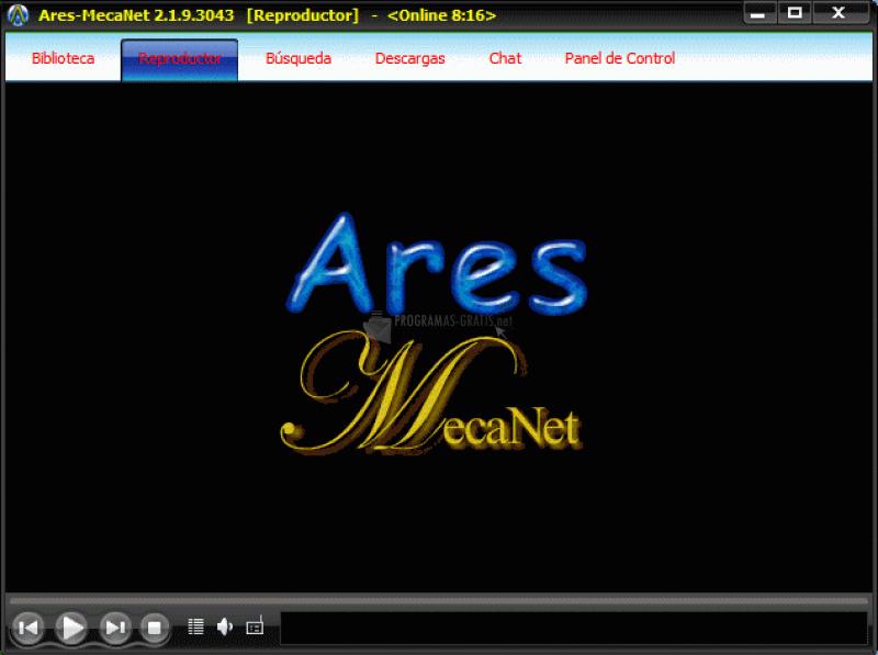Pantallazo Ares Mecanet