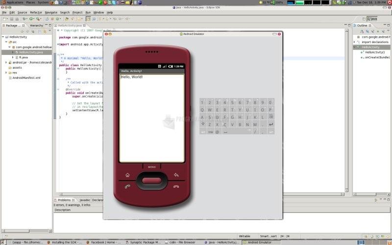 Pantallazo Android SDK