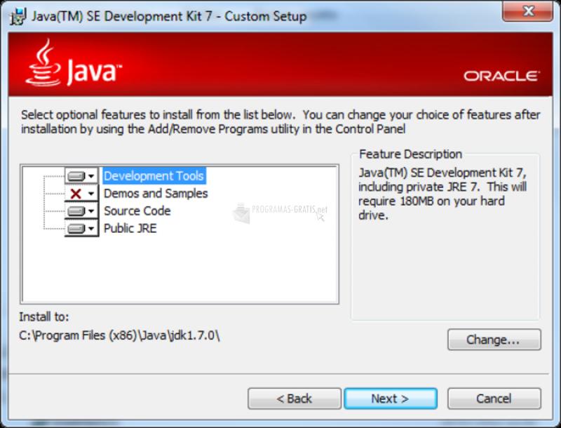 Pantallazo Java JDK (Java Development Kit)