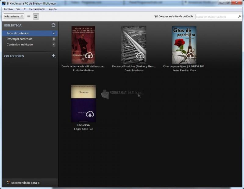 Pantallazo Amazon Kindle para PC