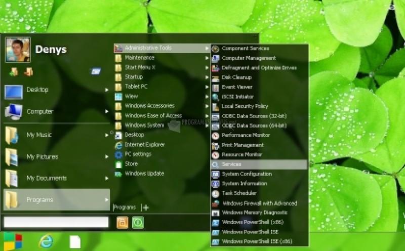 Pantallazo Botón Inicio de Windows 8