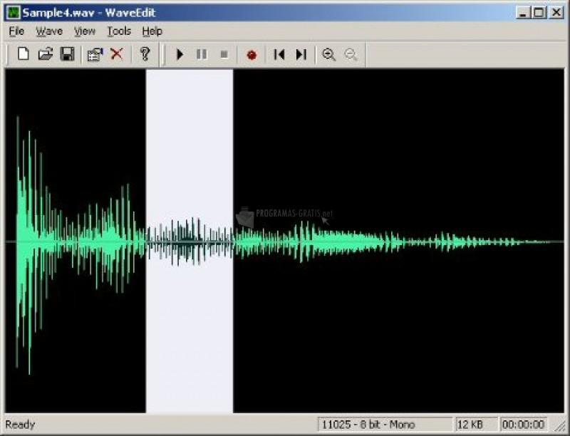 Pantallazo Wave Editor