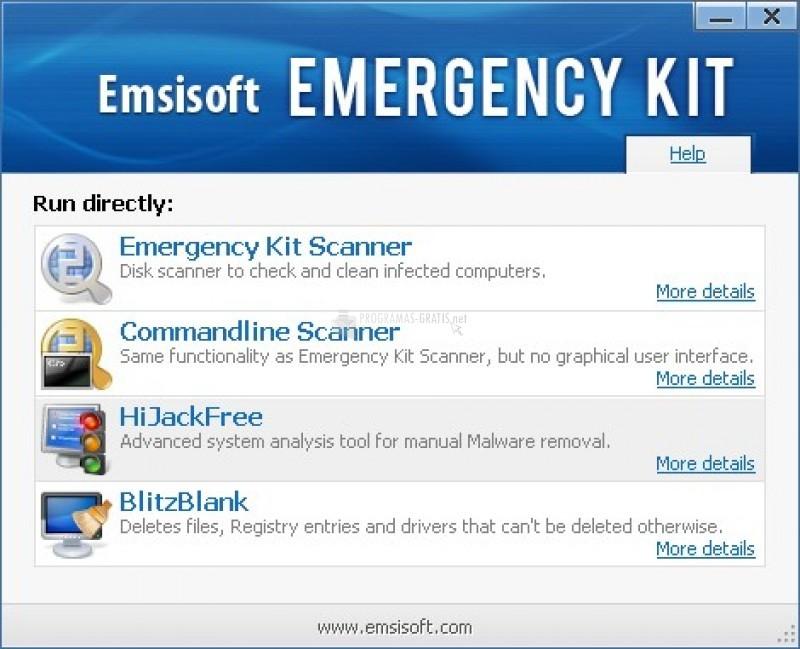 Pantallazo Emsisoft Emergency Kit