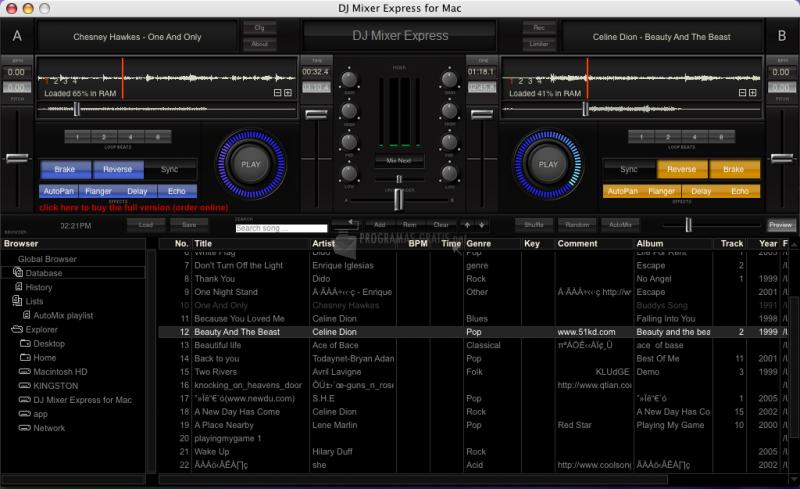 Pantallazo DJ Mixer Express