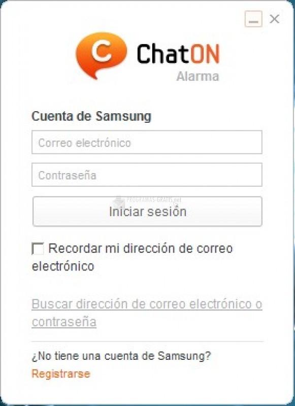 Pantallazo Samsung ChatON Alarm