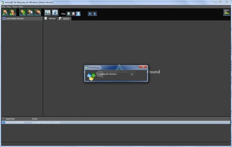 Pantallazo Active File Recovery