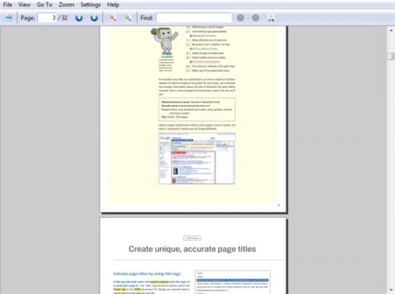 Pantallazo Easy PDF Reader