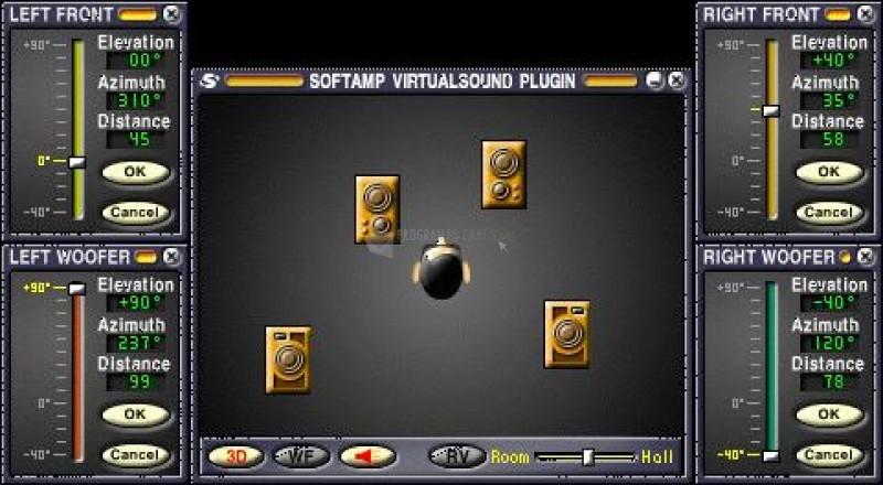 Pantallazo SoftAmp VirtualSound