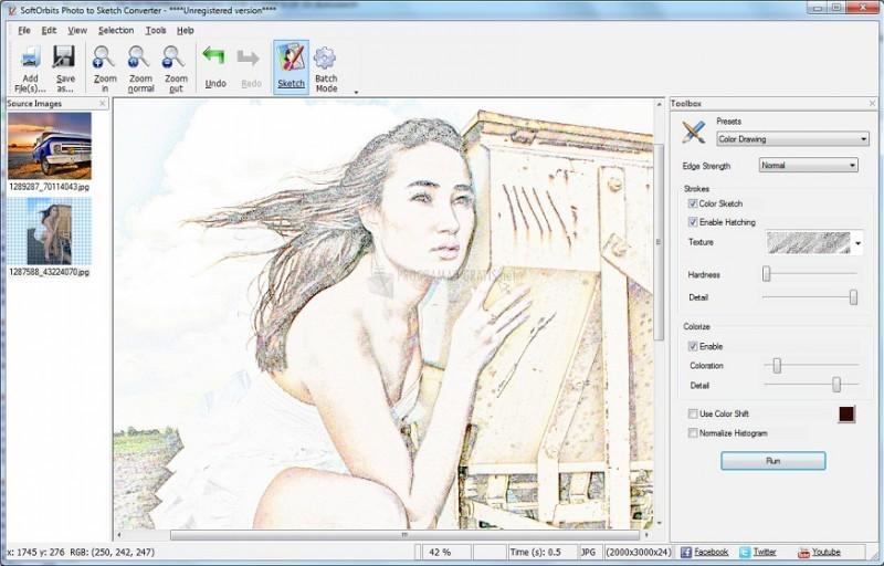 Pantallazo Sketch Drawer