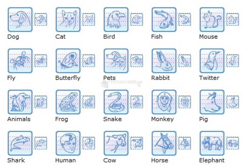 Pantallazo Animal Desktop Icons