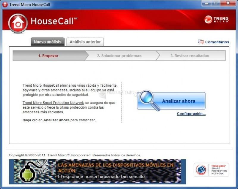Pantallazo HouseCall