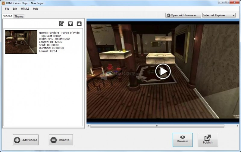 Pantallazo HTML5 Video Player
