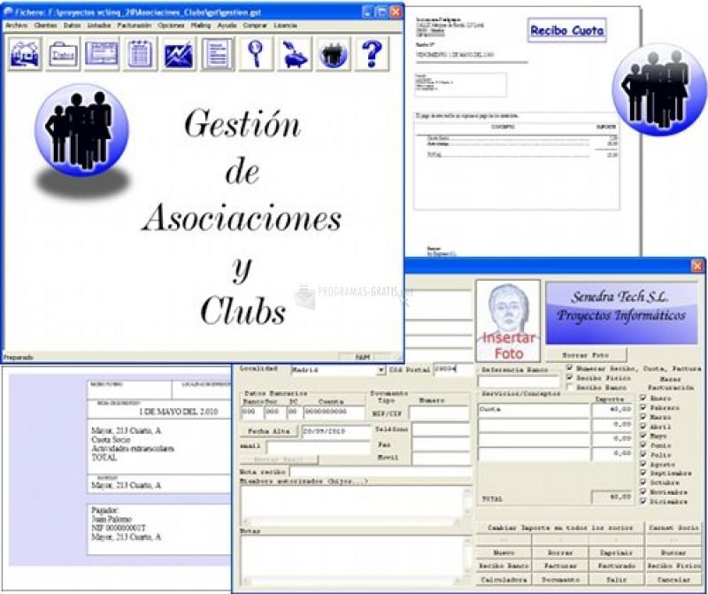 Pantallazo Asociaciones y Clubs