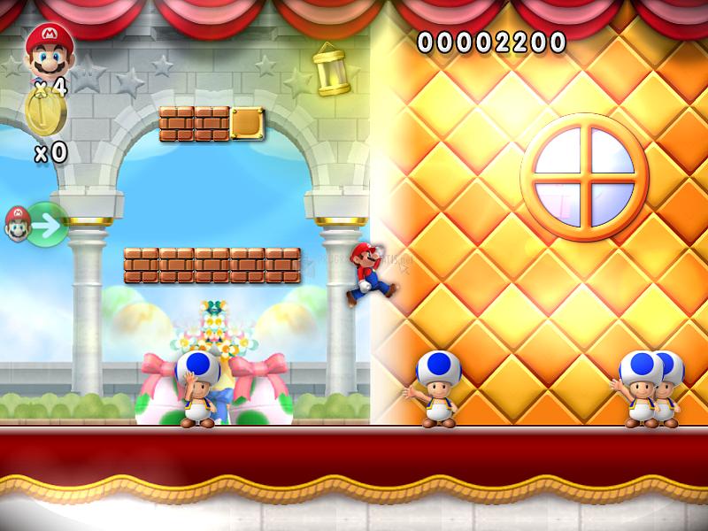 Pantallazo New Super Mario Forever 2012