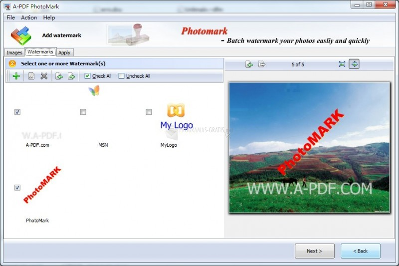 Pantallazo A-PDF Photomark