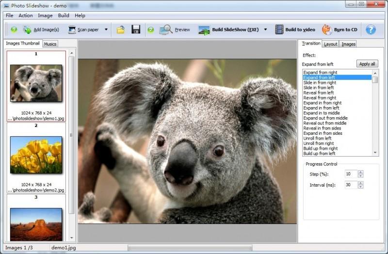 Pantallazo A-PDF Photo Slideshow Builder