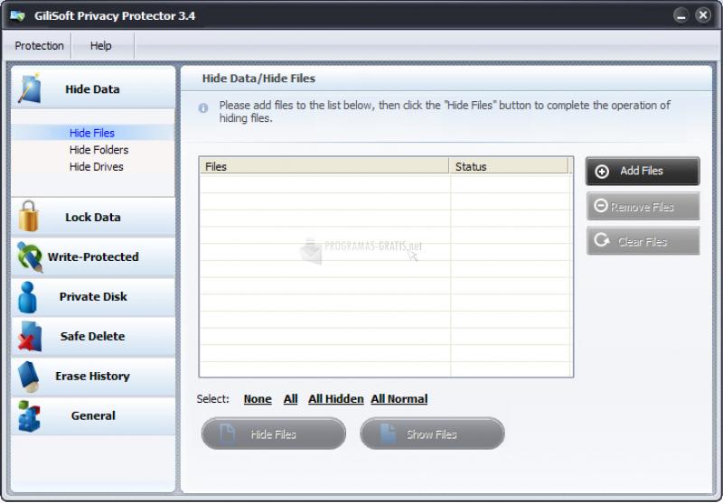 Pantallazo GiliSoft Privacy Protector