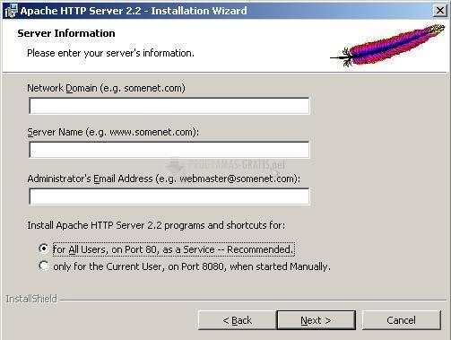 Pantallazo Apache HTTP Server