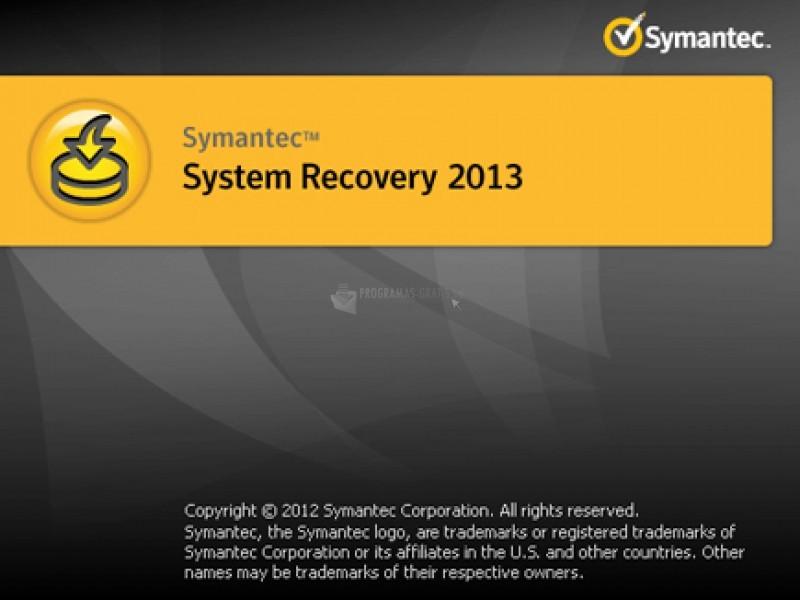 Pantallazo Symantec System Recovery