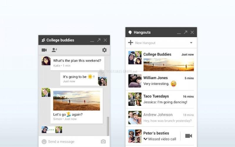 Pantallazo Google Hangouts