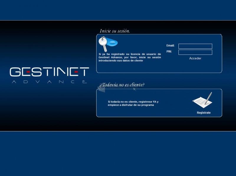 Pantallazo Gestinet Advance
