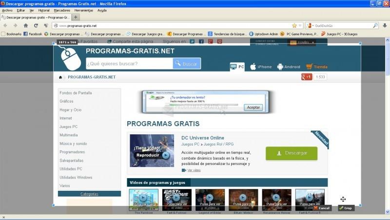 Pantallazo Pixlr Grabber for Firefox
