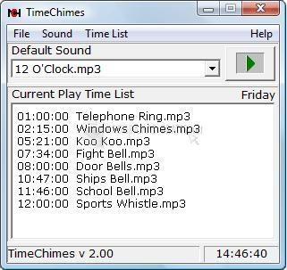 Pantallazo TimeChimes