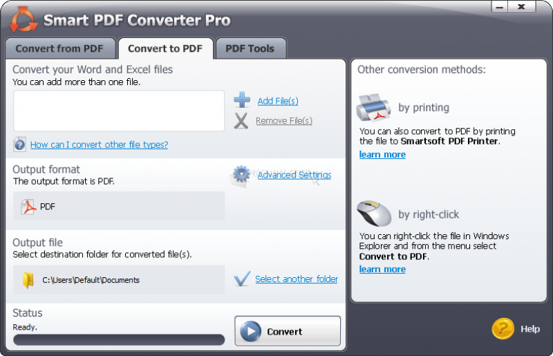 Pantallazo Smart PDF Converter Pro