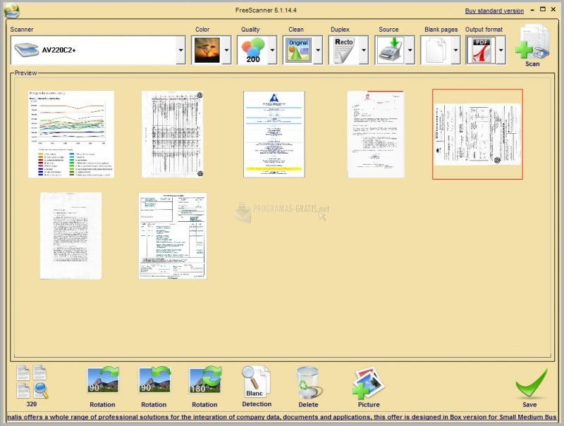 Pantallazo Free PDF Scanner