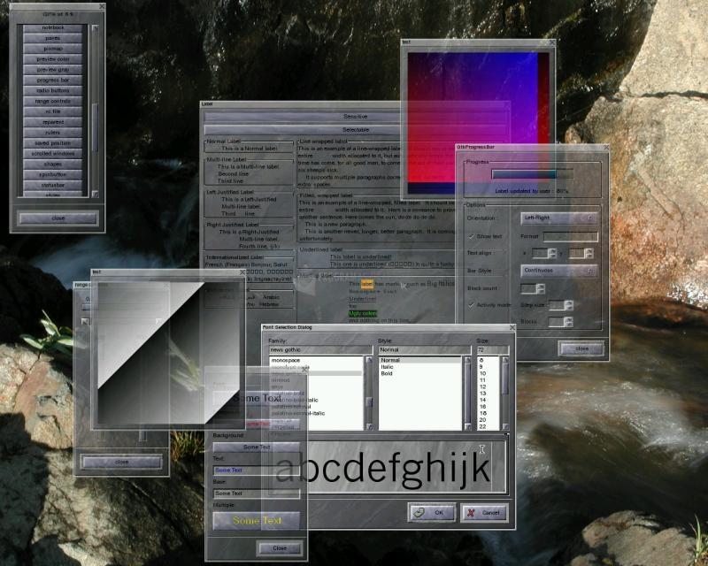 Pantallazo GTK 2 Runtime Environment