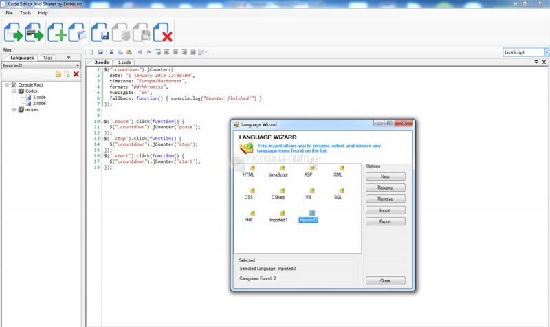Pantallazo Code Editor And Sharer