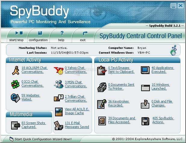 Pantallazo SpyBuddy