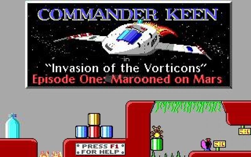 Pantallazo Commander Keen: Marooned on Mars
