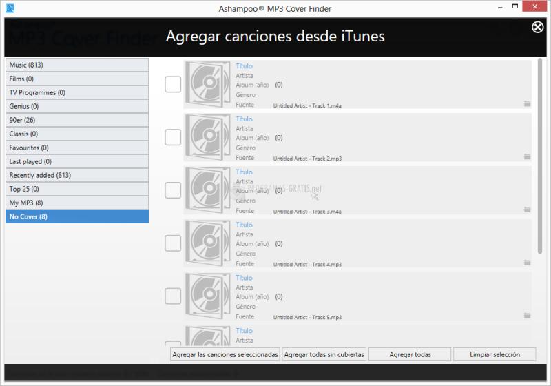 Pantallazo Ashampoo MP3 Cover Finder
