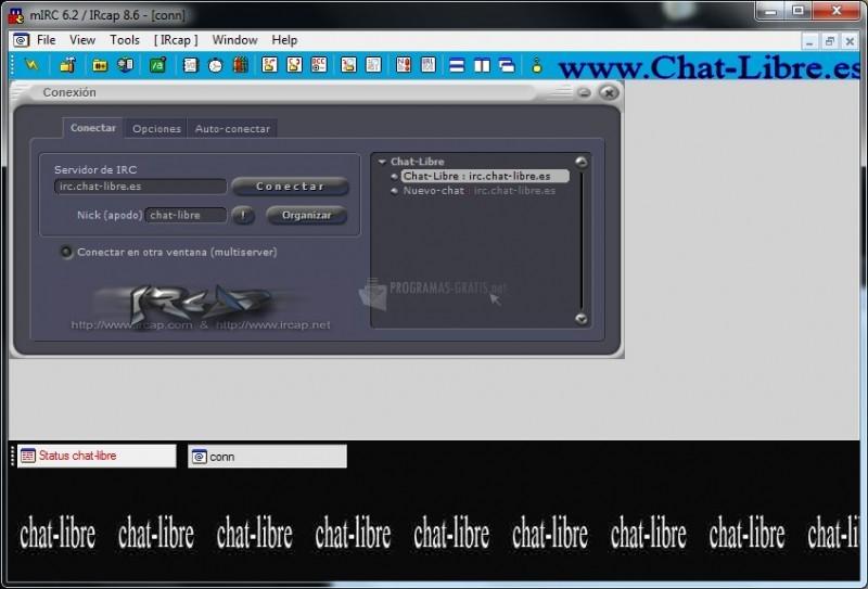Pantallazo IrCaP Chat Libre