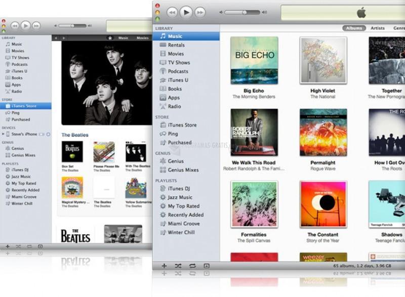 Pantallazo iTunes para Windows 64