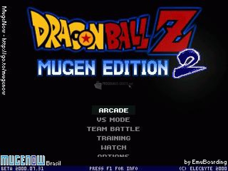 Pantallazo Dragon Ball Z - MUGEN Edition 2