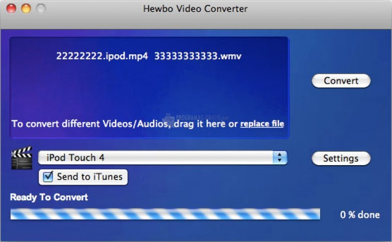 Pantallazo Hewbo Video Converter