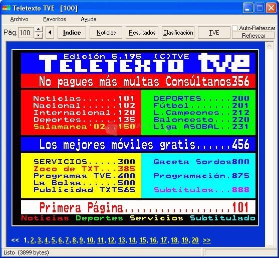 Pantallazo Teletexto