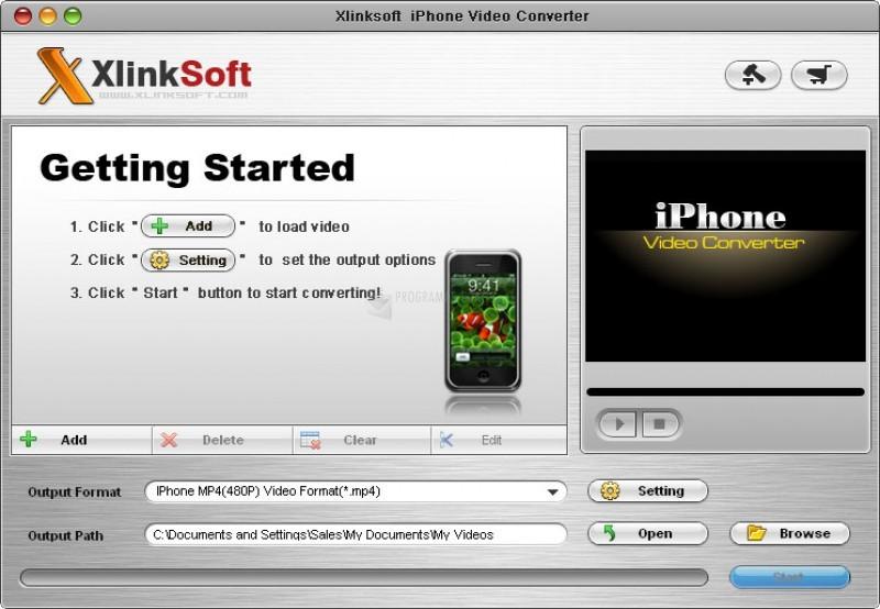 Pantallazo Xlinksoft iPhone Video Converter