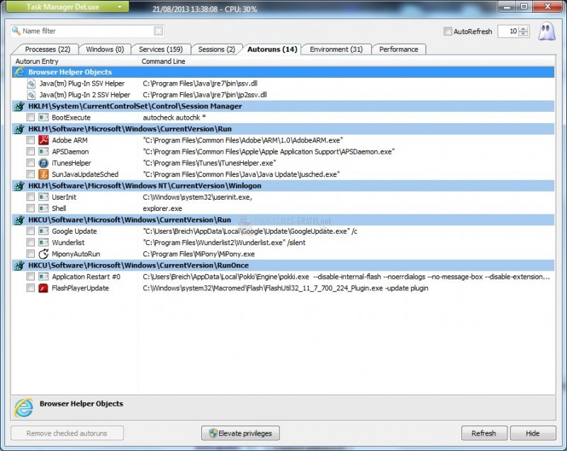 Pantallazo MiTeC Task Manager DeLuxe