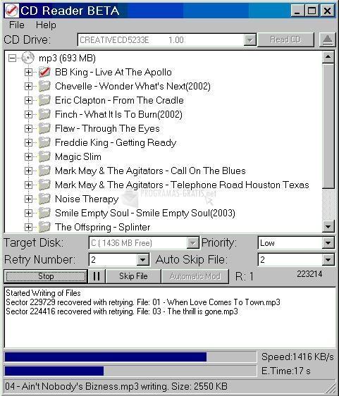 Pantallazo CD Reader