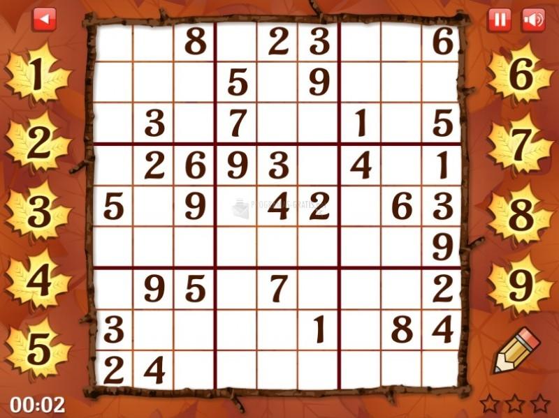 Pantallazo Fall Sudoku