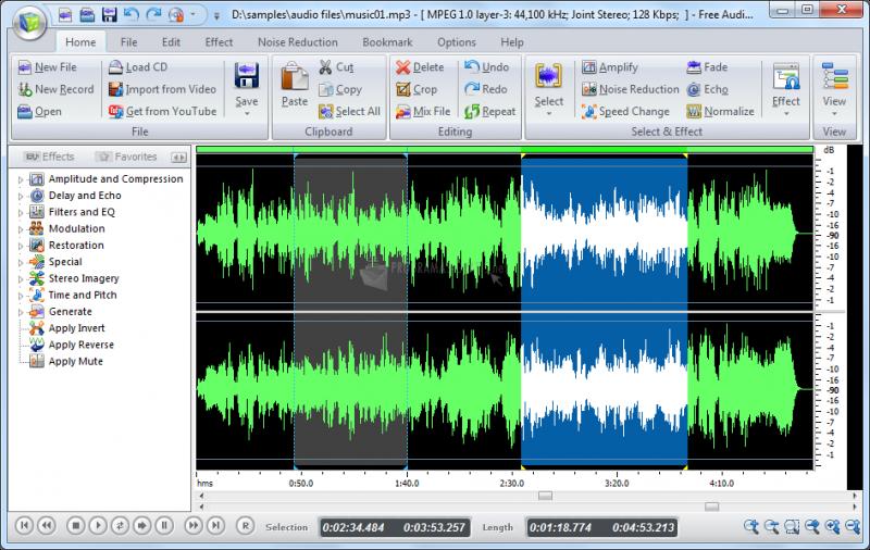 Pantallazo All Free Audio Editor