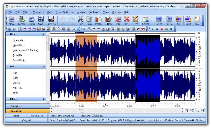 Pantallazo Home Audio Editor