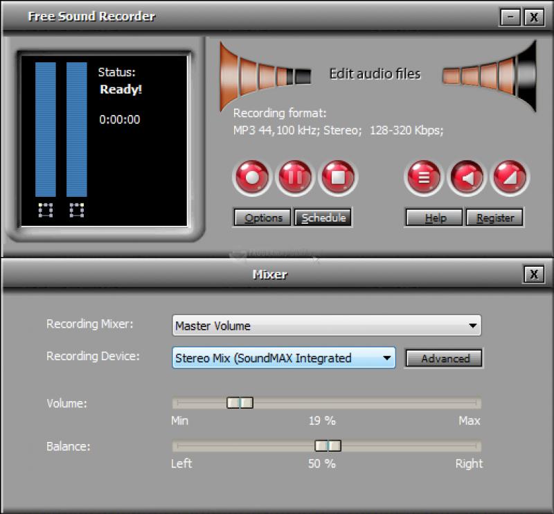 Pantallazo All Free Sound Recorder