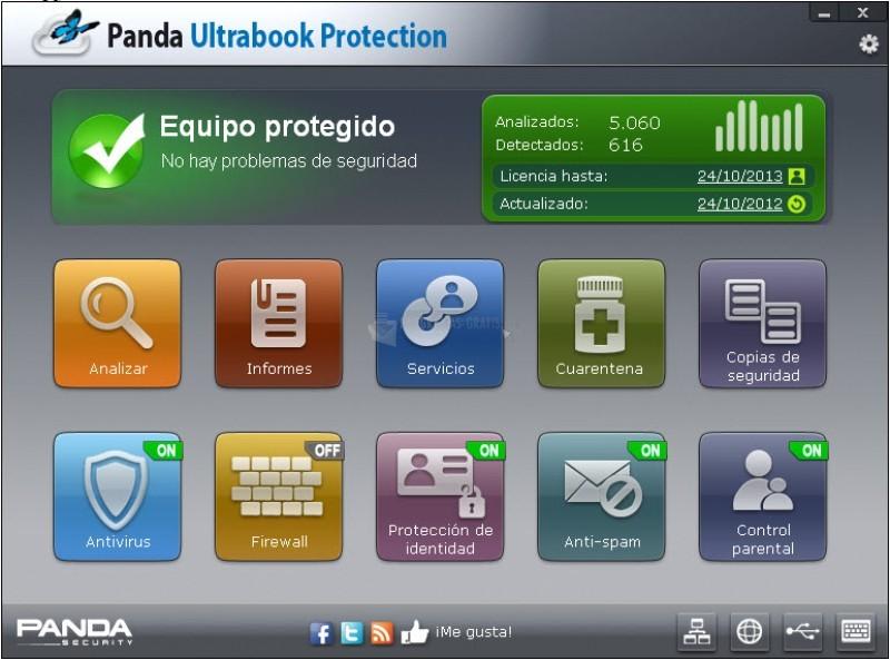 Pantallazo Panda Ultrabook Protection