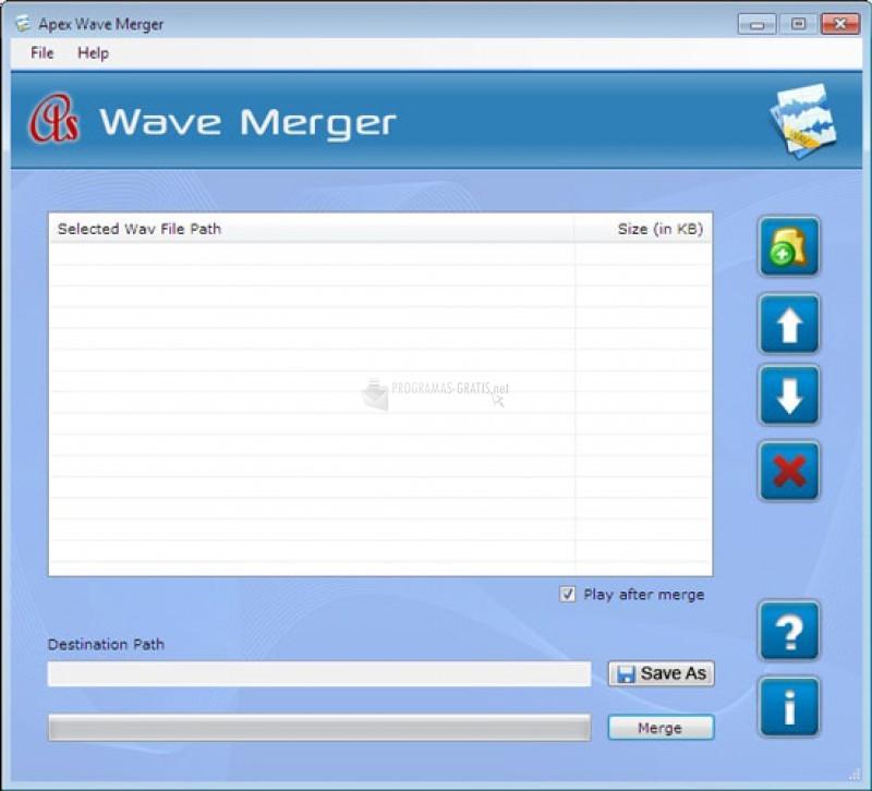 Pantallazo Wave Merger