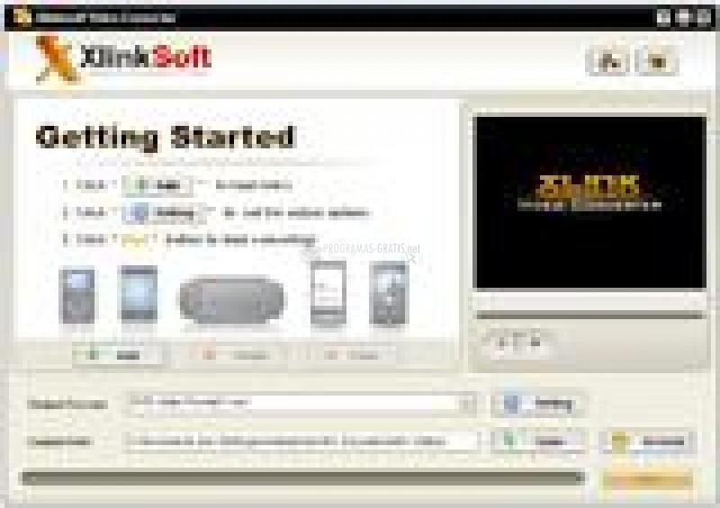 Pantallazo XlinkSoft Xbox Converter