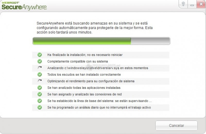 Pantallazo Webroot SecureAnywhere Complete